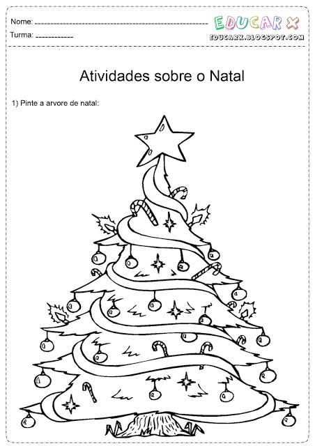 Desenhos De árvores De Natal Para Colorir Atividades Pedagógicas