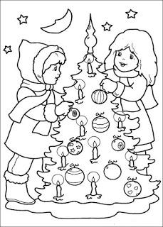 desenho arvore natal Árvores de Natal para colorir