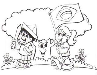 dia da bandeira atividades e desenhos colorir35