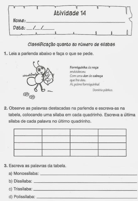 exercicio portugues licao