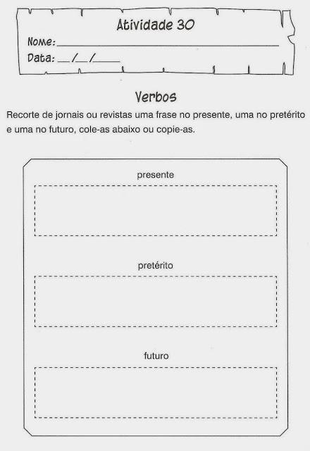 exercicios portugues verbos