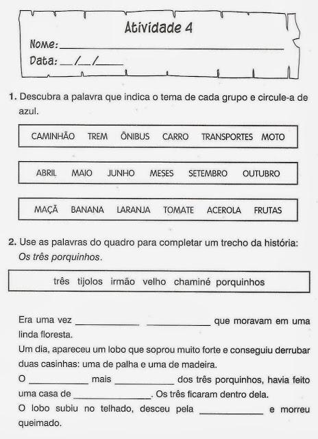 exercicios portugues