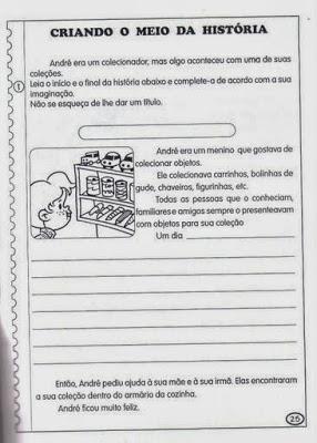 exercicios producao de texto portugues