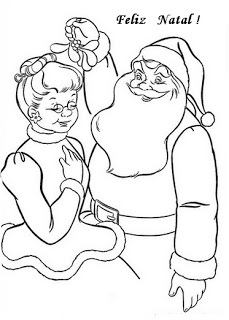 natal atividades desenhos noel neve present rena195