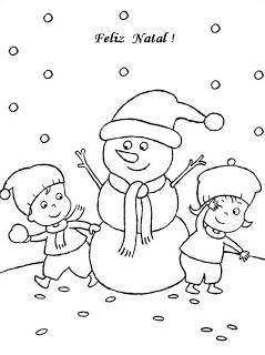 natal atividades desenhos noel neve present rena196