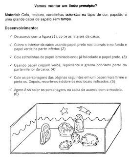 Modelos De Presepio Para Recortar E Montar Atividades Pedagogicas
