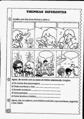 portugues exercicios para fazer historia