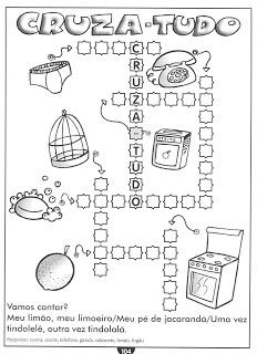 Atividade de Alfabetização prontos imprimir