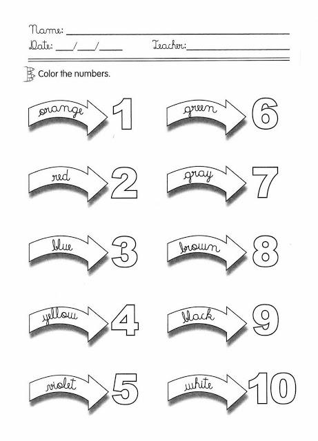 Números em inglês atividade