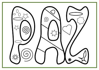 Desenhos de paz para colorir