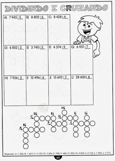 Atividade de matemática do 4° anos