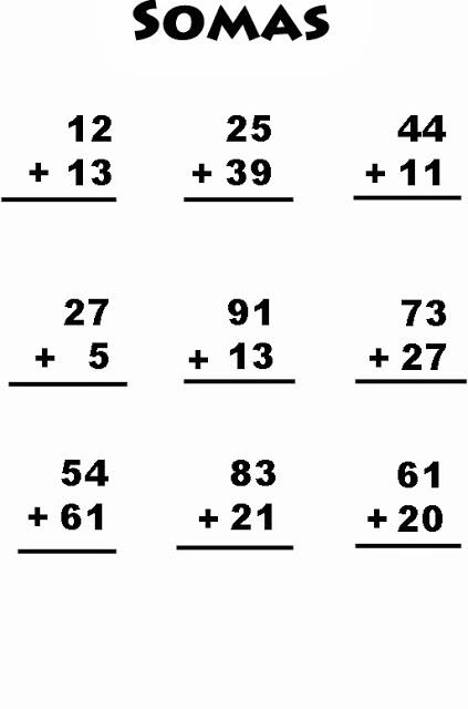 Exercício de matemática imprimir