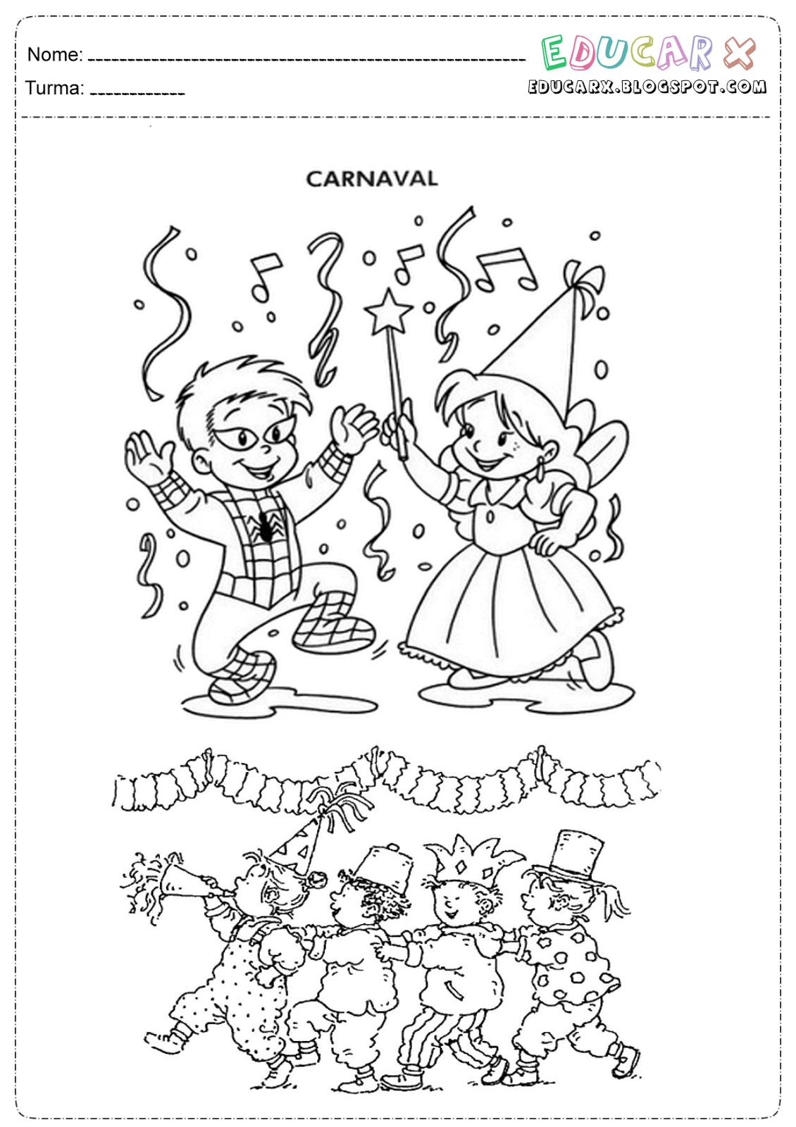 Atividades Carnaval fundamental