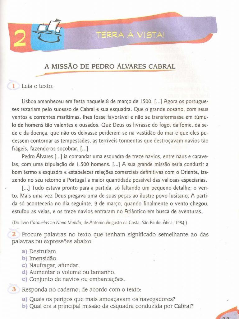 História do descobrimento do Brasil - Pedro Álvares Cabral
