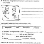 Encontro consonantal exercícios para primário