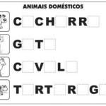 Atividades Alfabetização – Complete Palavras