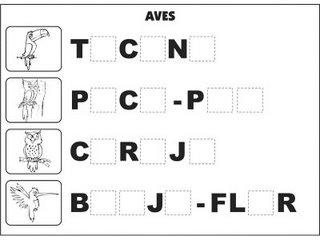 Atividades Alfabetização - Complete as Palavra
