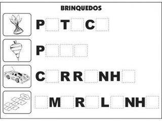 Atividades Alfabetização - Complete Palavras