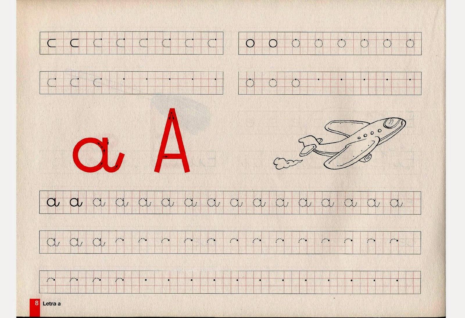 Atividades de caligrafia das vogais
