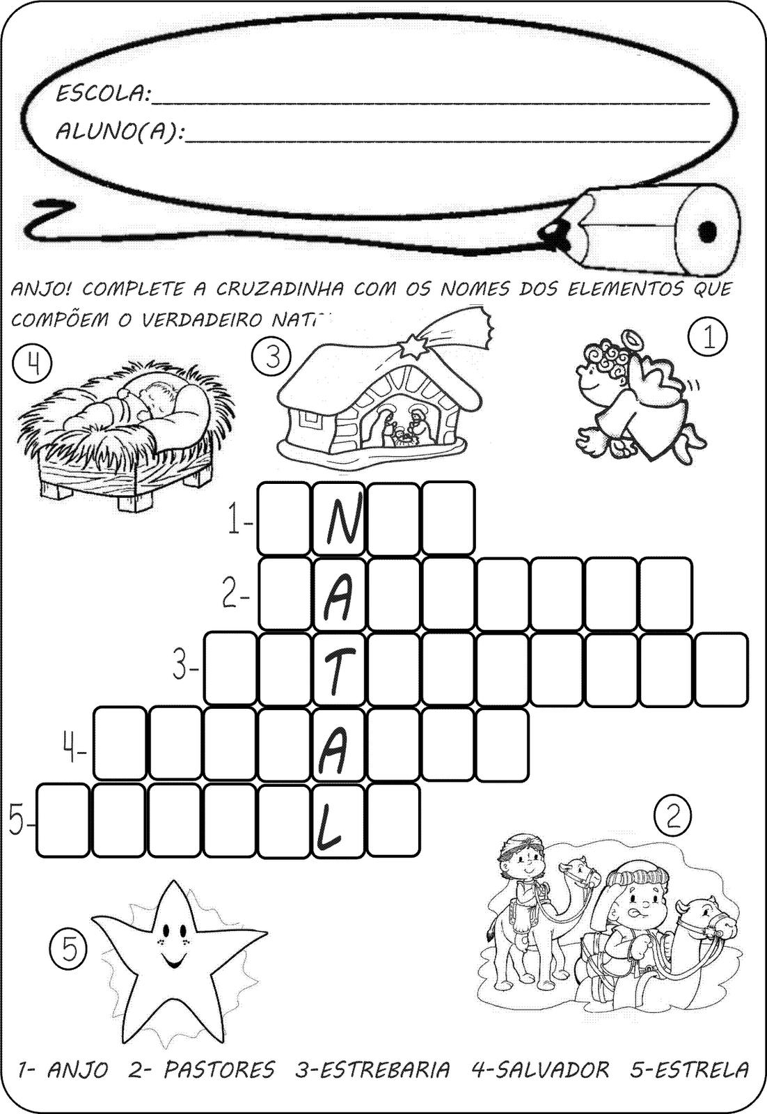 Exercicios Natal Colorir E Caca Palavras Atividades Pedagogicas