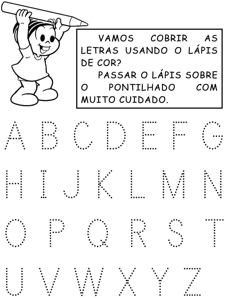 Atividades Com O Alfabeto Pontilhado Atividades Pedagogicas