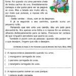 TEXTO A RAPOSA E AS UVAS COM ATIVIDADES