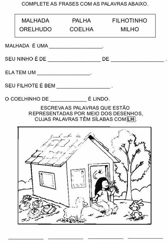 Atividades Com Lh Ch E Nh Para Alfabetização Atividades Pedagógicas