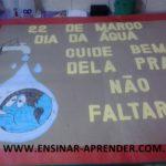 PAINEL PARA O DIA DA ÁGUA COM MOLDE