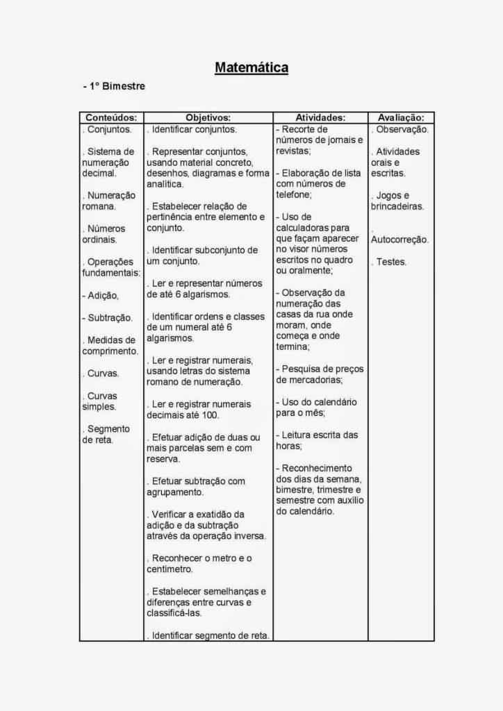 PLANEJAMENTO ANUAL 4° ANO semestres
