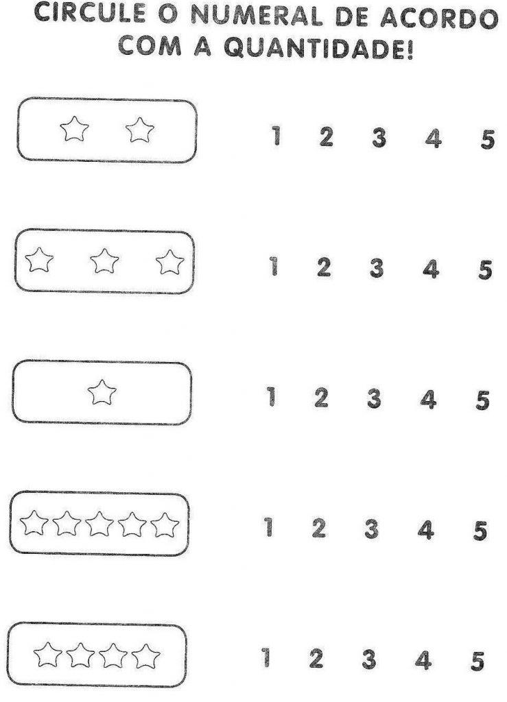 ATIVIDADES COM NUMERO 5