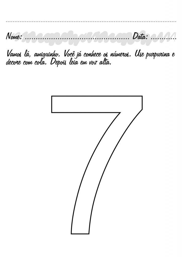 ATIVIDADES COM NUMERO 7 PARA EDUCAÇÃO INFANTIL