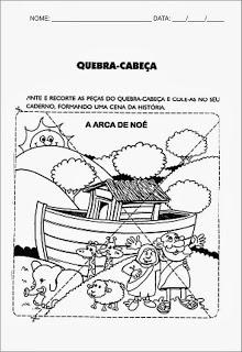 ATIVIDADES SOBRE A ARCA DE NOÉ