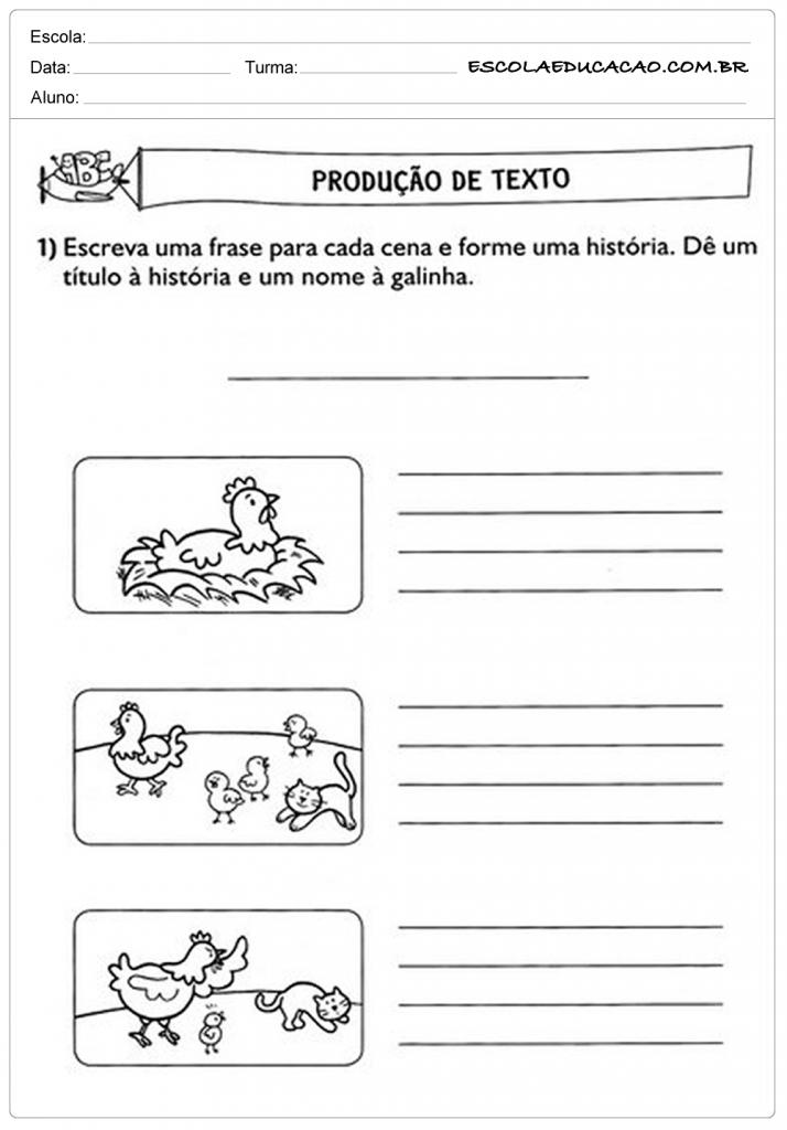 Imagens Para Produção de Texto 3º Ano