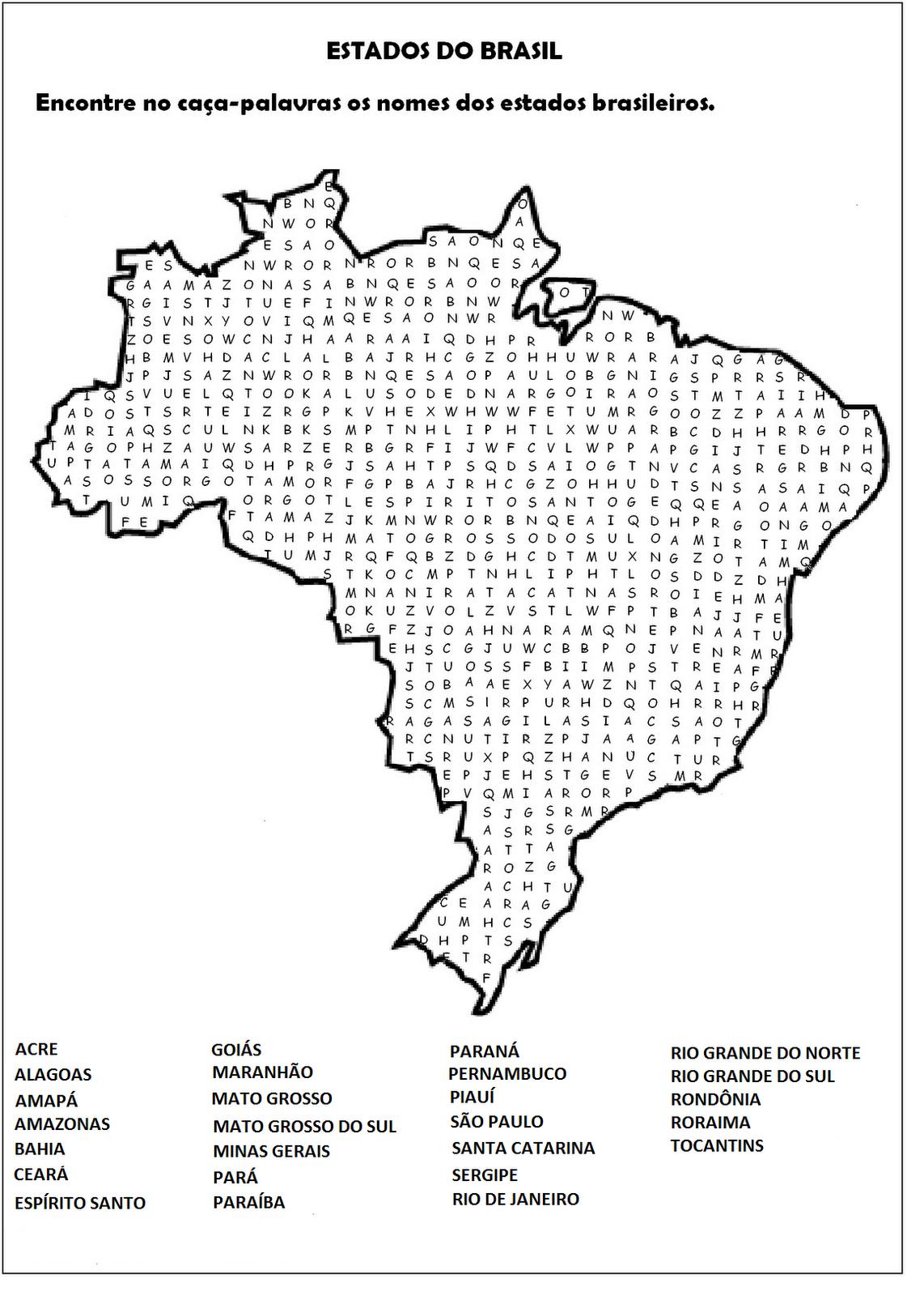 Caca Palavras De Geografia Para Imprimir