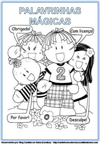 PALAVRINHAS MAGICAS PARA EDUCAÇÃO INFANTIL