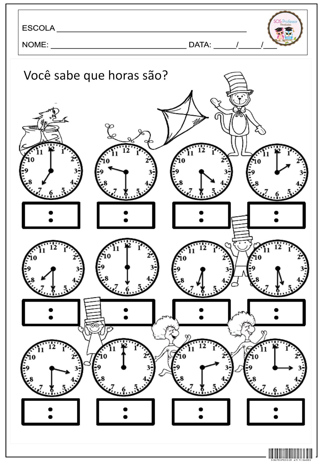 atividades com horas e minutos