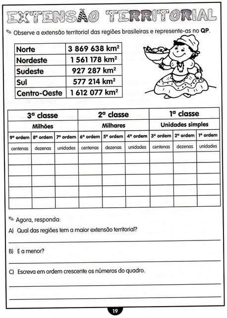 ATIVIDADES SOBRE ORDENS E CLASSES PARA O 4º ANO