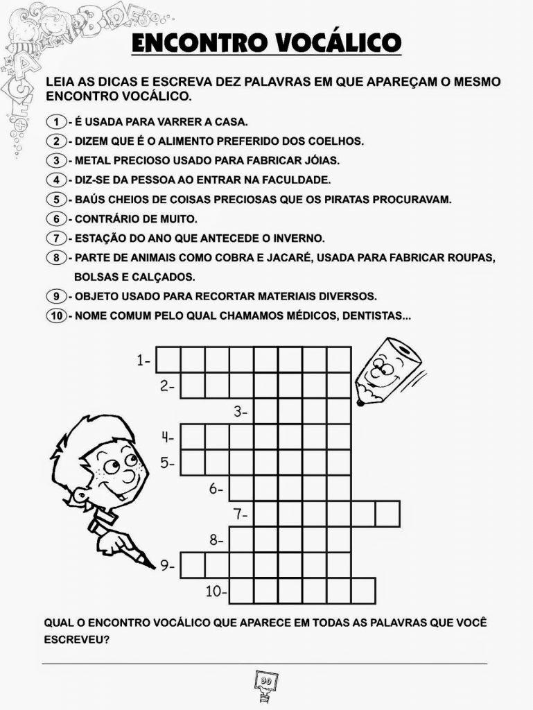 IDEIAS DE ATIVIDADES SOBRE ENCONTROS VOCÁLICOS