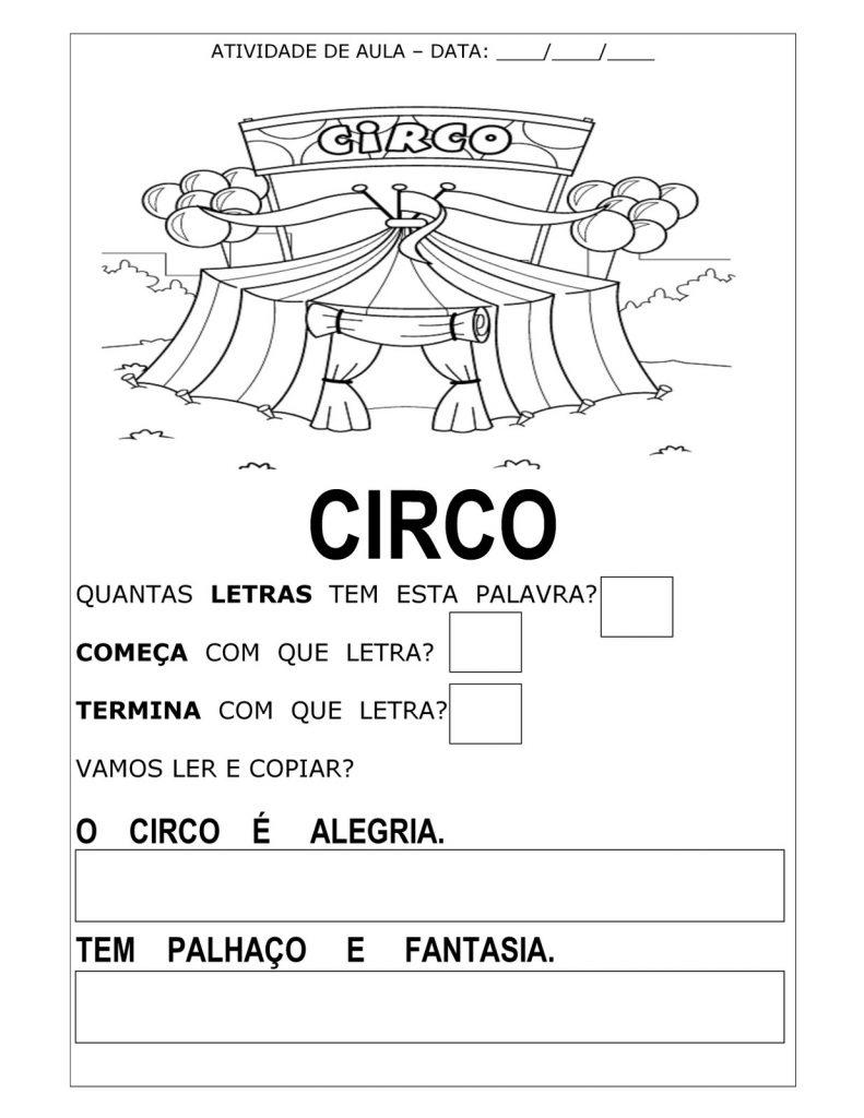 ATIVIDADES PARA O DIA DO CIRCO