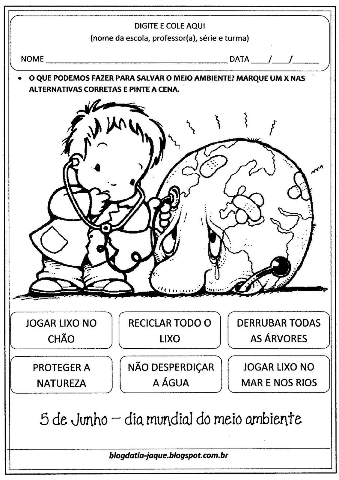 Atividades Sobre O Meio Ambiente Educacao Infantil