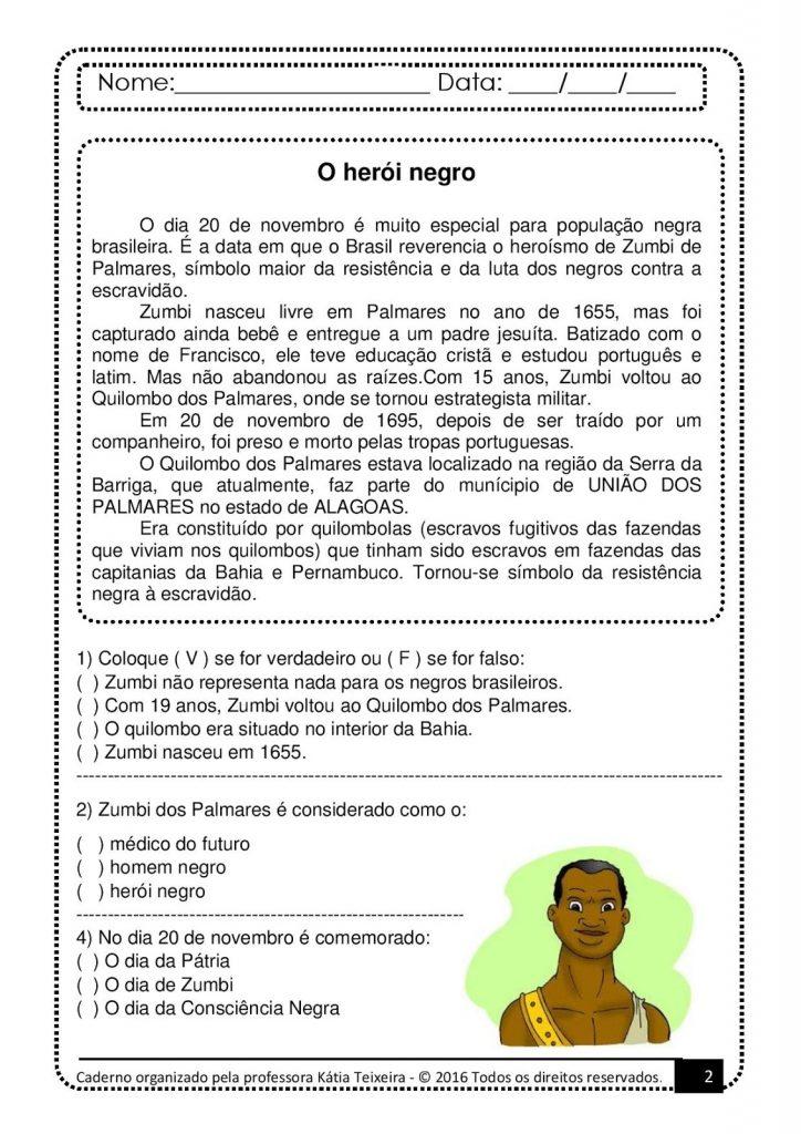Interpretação de Texto Sobre a Consciência Negra