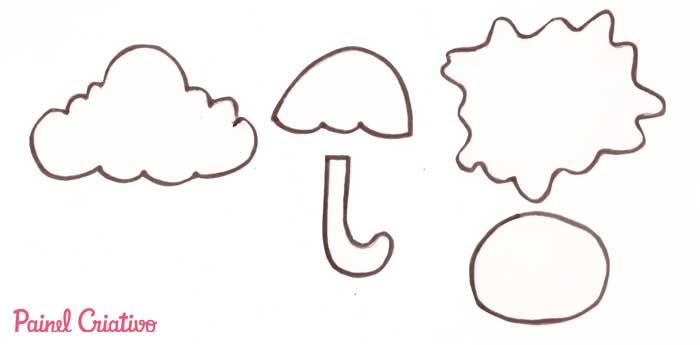 molde de letras em forma de nuvem