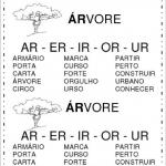 Atividades com as sílabas AR ER IR OR UR