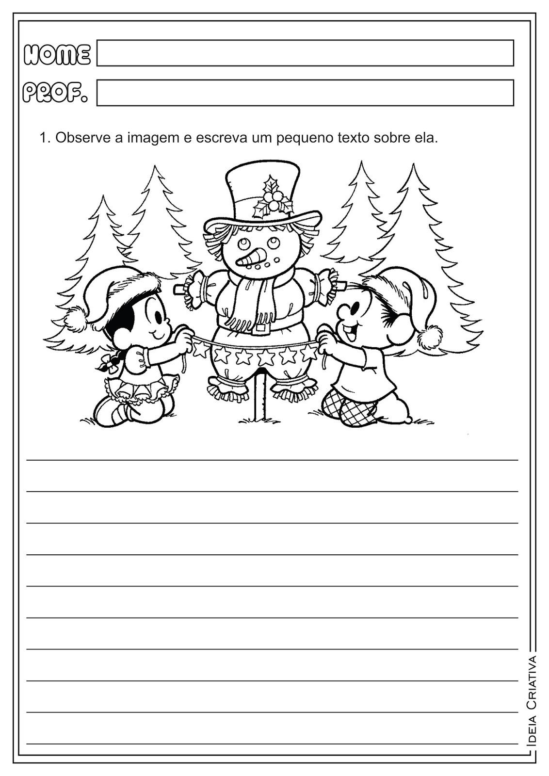 Atividades de Produção de Texto sobre o Natal