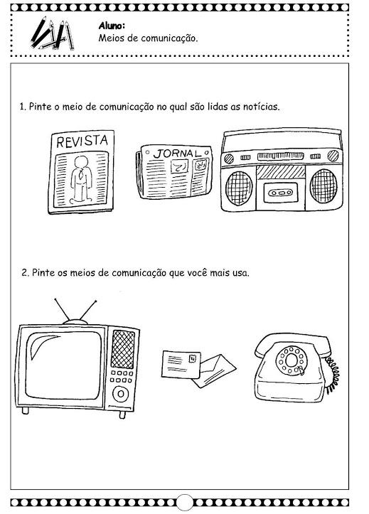 Atividades Sobre Meios de Comunicação