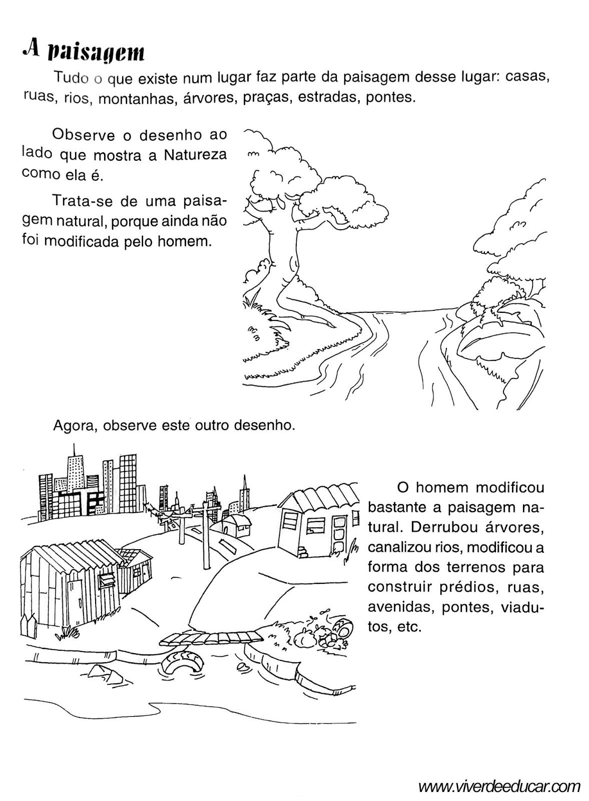 Atividades Sobre Paisagem Natural e Modificada