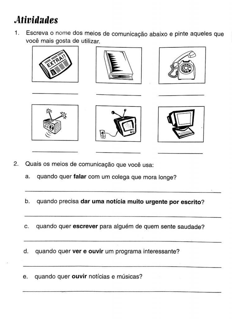 Atividades Sobre Meios de Comunicação para Educação Infantil