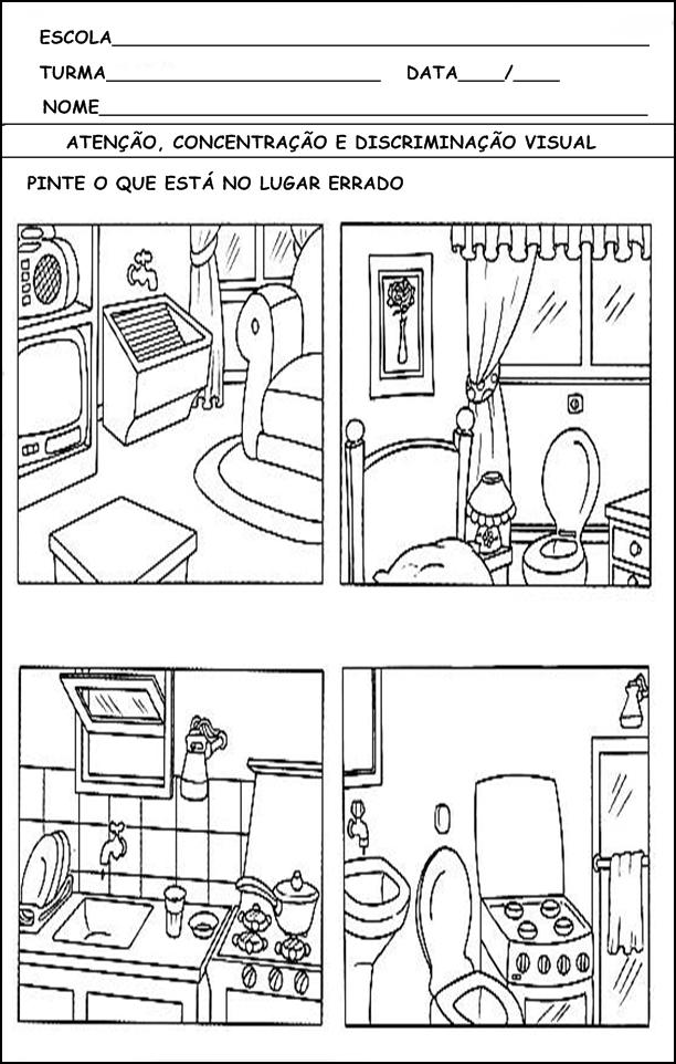 Atividades para Alunos Hiperativos para Imprimir