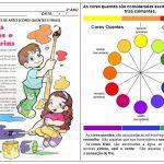 Atividades de artes sobre as cores Quentes e Frias