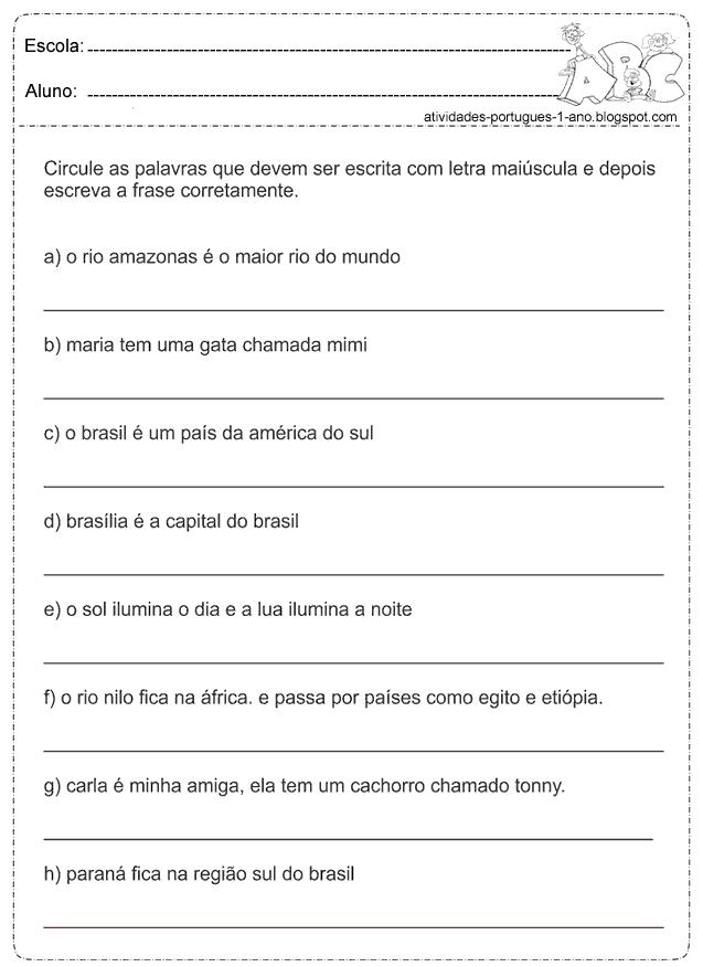 Atividade Com Formação De Frases